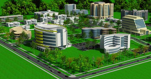 Ghana Cyber City Conceptual Drawing
